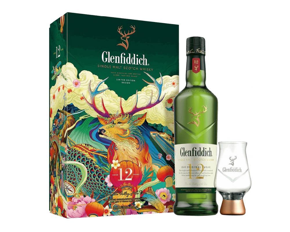 蘇格蘭 格蘭菲迪12年 單一純麥威士忌.700ml(威士忌禮盒-2021新春限定)