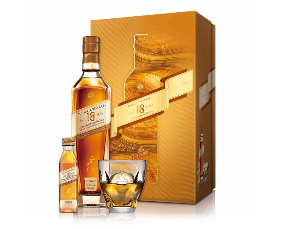 蘇格蘭 約翰⾛路 18年威⼠忌.700ml(威士忌禮盒-2021新春限定)