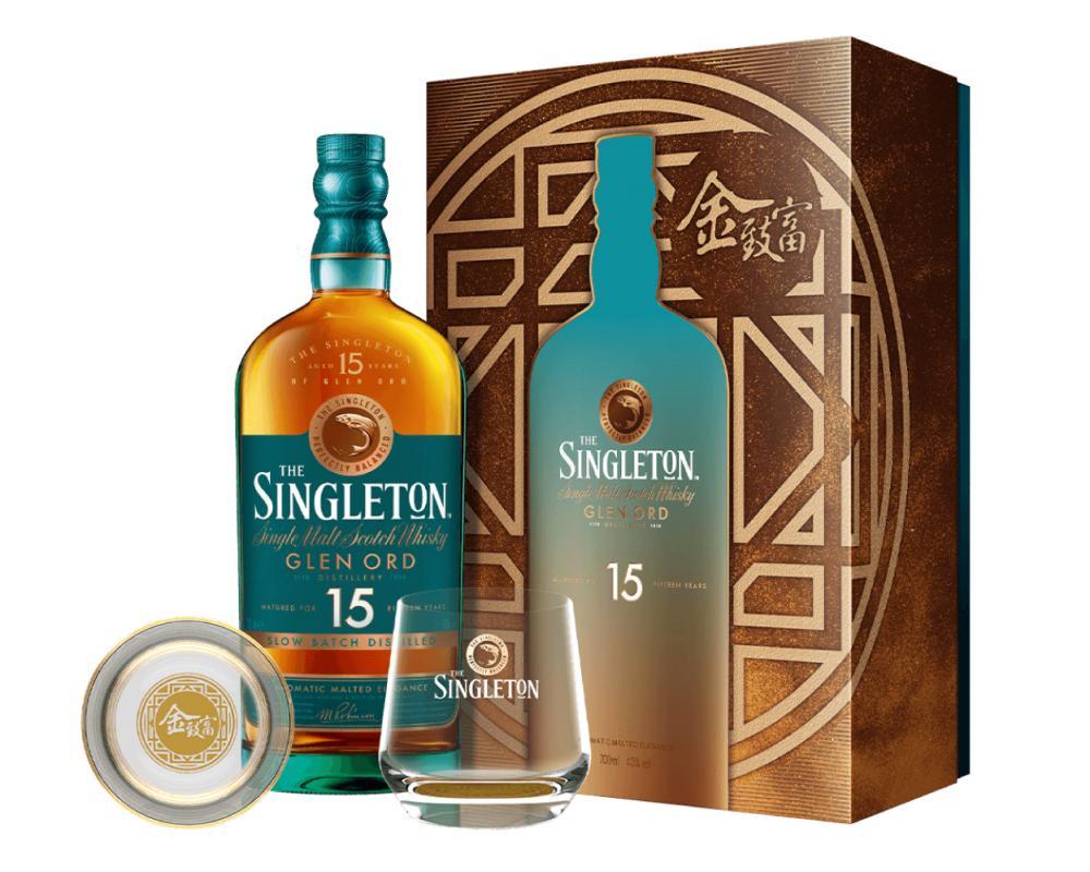 蘇格蘭 蘇格登 15年單⼀麥芽威⼠忌.700ml(威士忌禮盒-2021新春限定)