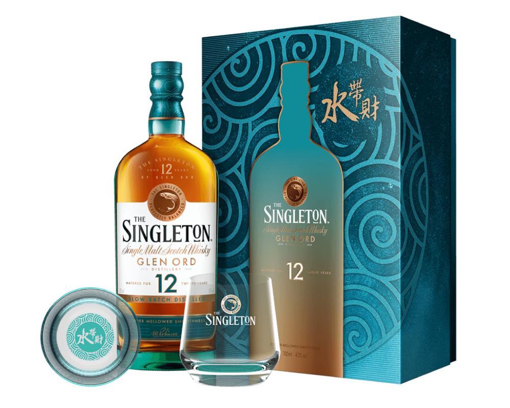 蘇格蘭 蘇格登 12年單⼀麥芽威⼠忌.700ml(威士忌禮盒-2021新春限定)