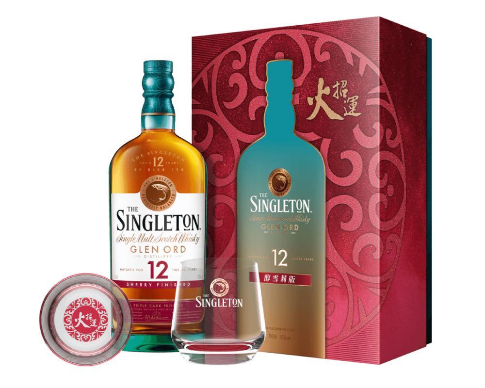 蘇格蘭 蘇格登 12年雪莉桶威⼠忌.700ml(威士忌禮盒-2021新春限定)