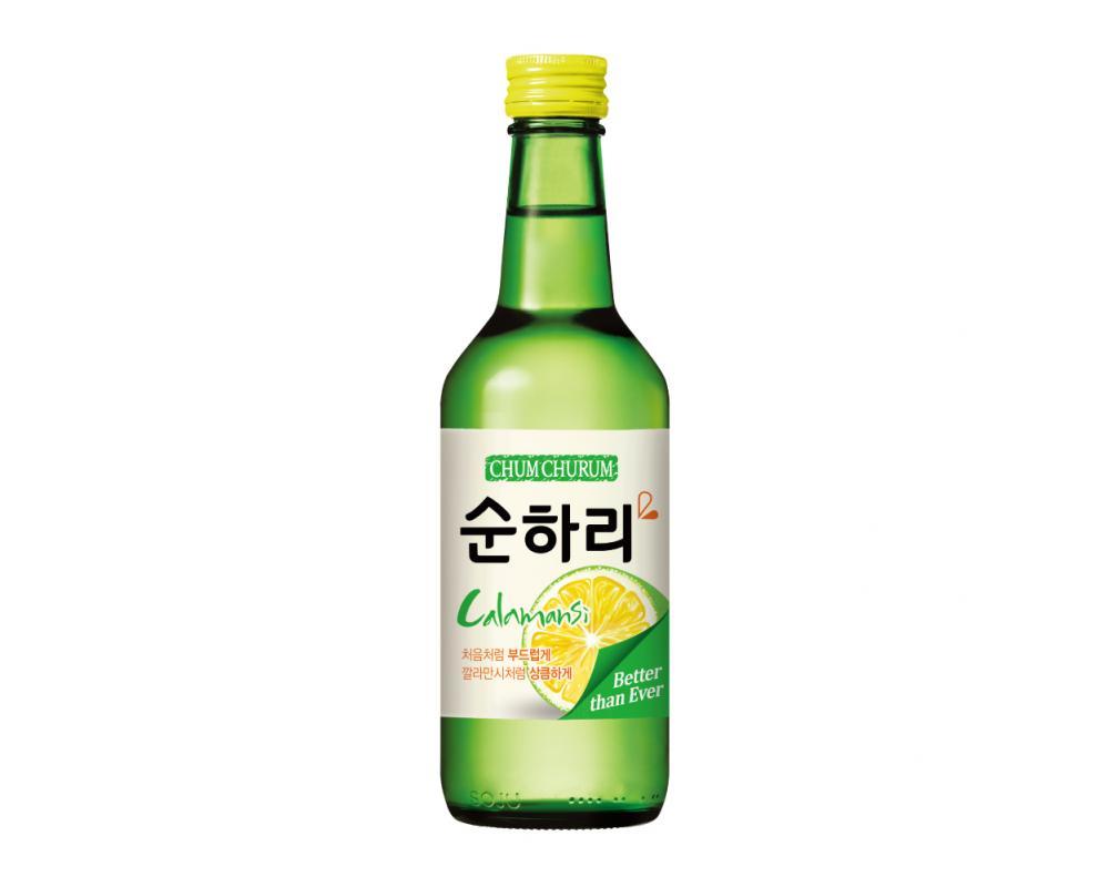 韓國 樂天 初飲初樂 金桔風味燒酒.360ml