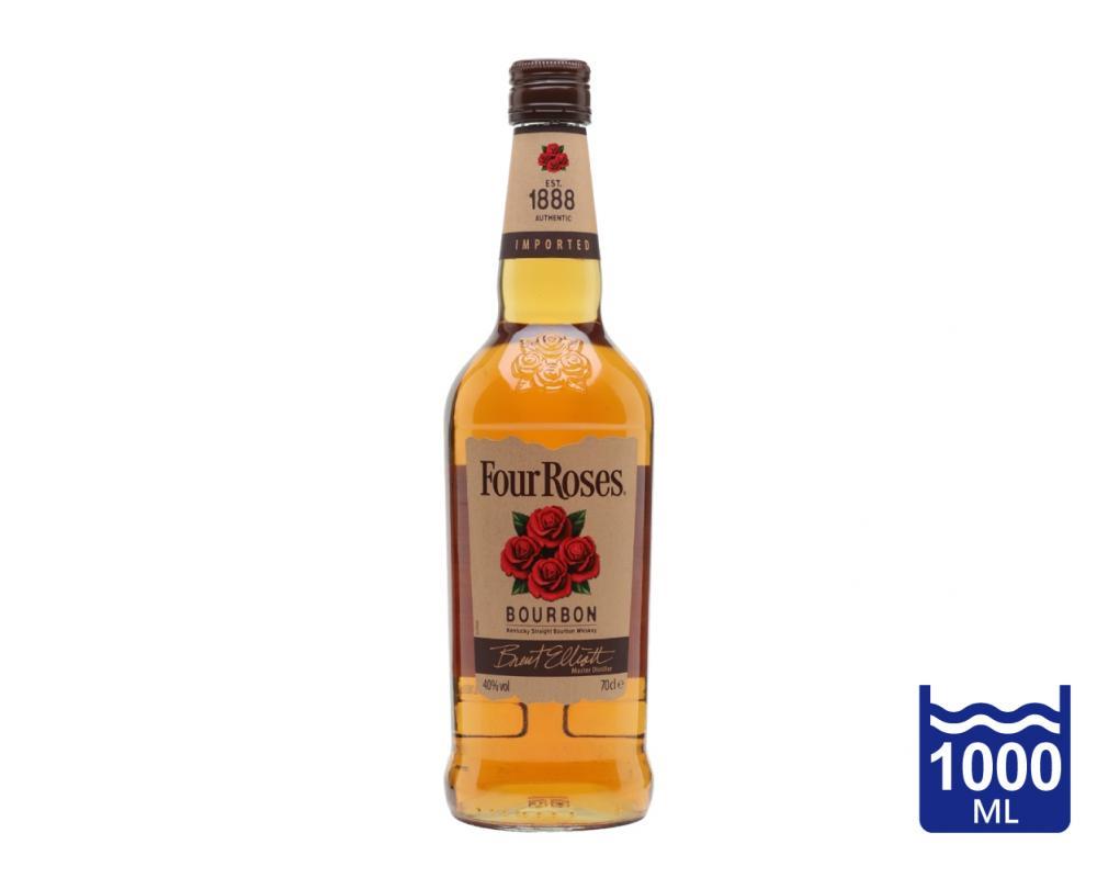 美國 四朵玫瑰 波本威士忌.1L