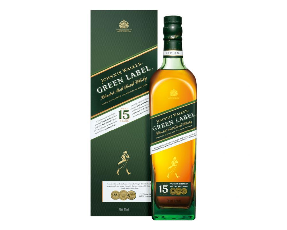 蘇格蘭 約翰走路綠牌15年 調和威士忌.700ml