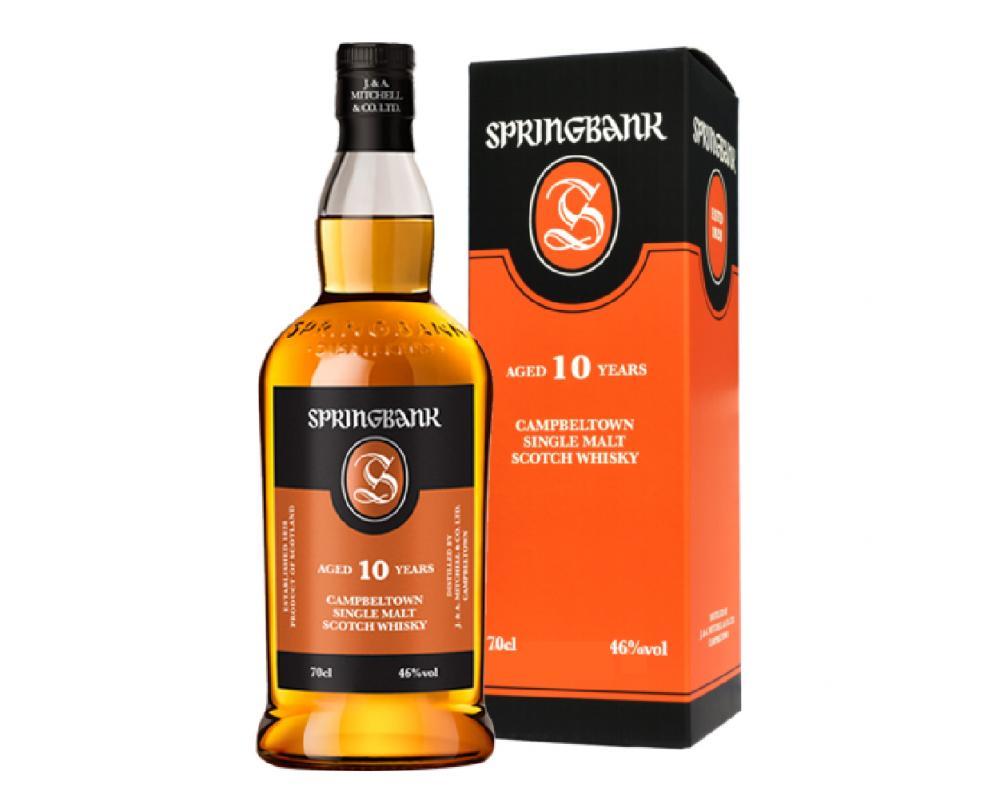 蘇格蘭 雲頂10年 單⼀純麥威⼠忌(橘盒)