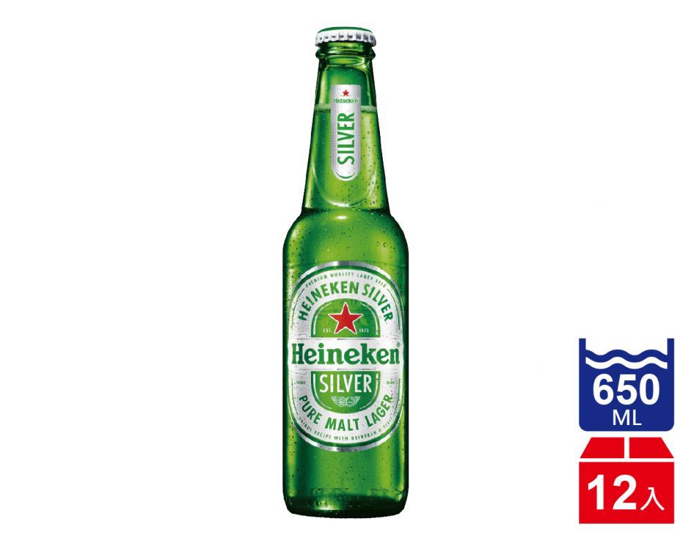 海尼根 星銀啤酒.650ml(650mlx12入)