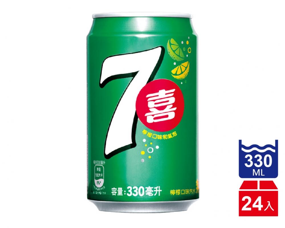 七喜汽水(330mlx24入)
