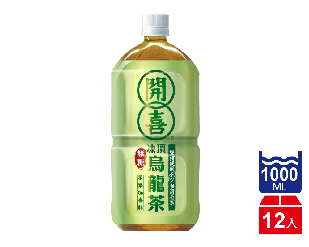 開喜凍頂烏龍茶-無糖(1000mlx12入)