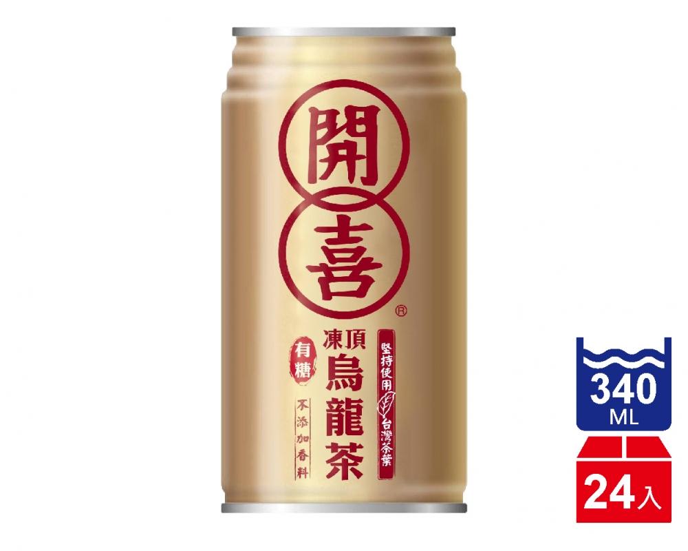 開喜凍頂烏龍茶-微糖(340mlx24入)