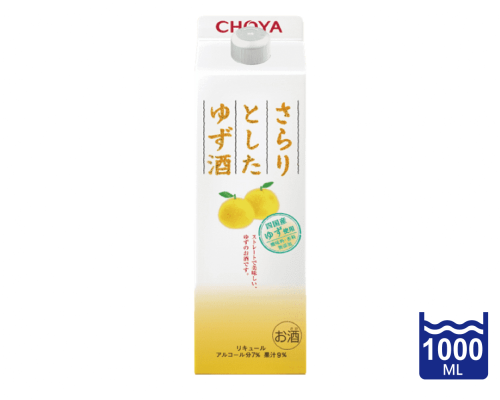 日本 CHOYA蝶矢 Sarari 柚子酒.1L