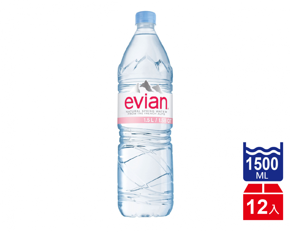 【Evian依雲】天然礦泉水(1500mlx12入)