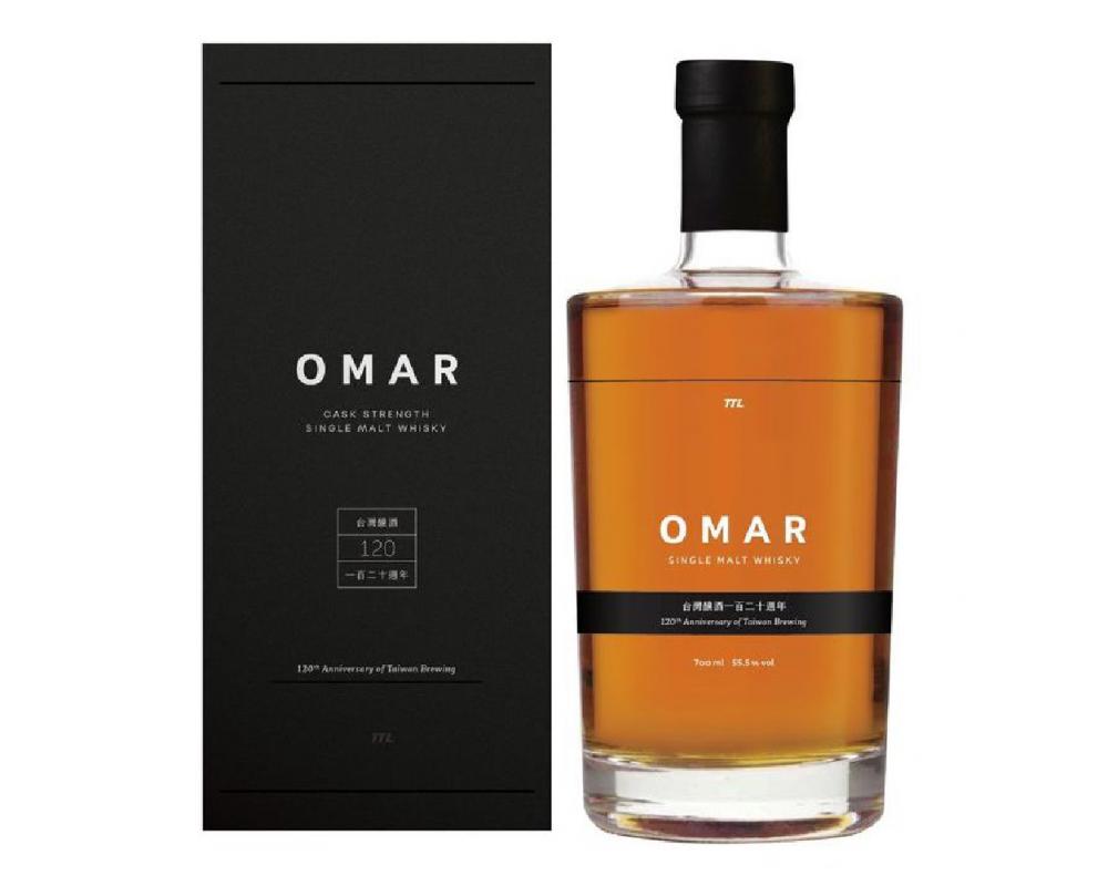 台酒 OMAR原桶強度單一麥芽威士忌-台灣釀酒120週年紀念酒.700ml
