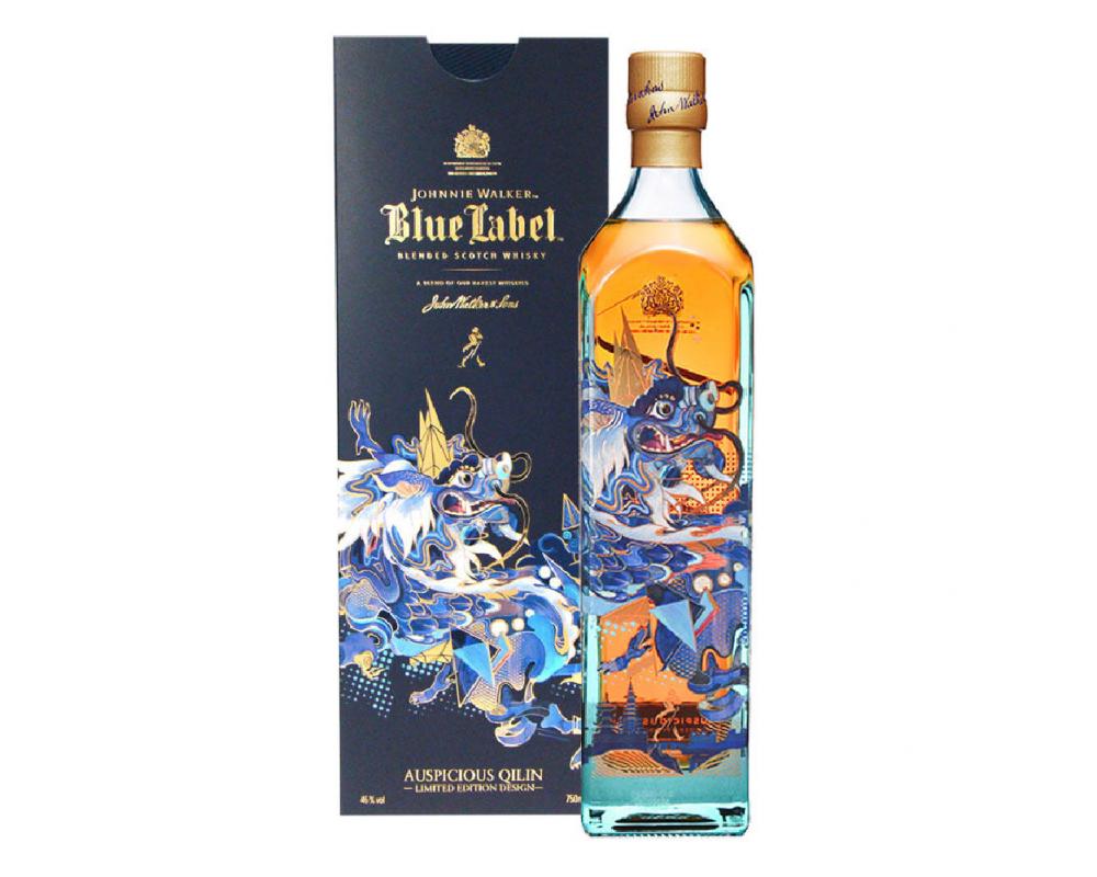 蘇格蘭 約翰走路 藍牌調和威士忌*2021年藍牌麒麟限定版.750ml